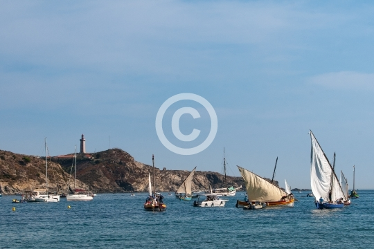Barques sous les regards du phare de Port Vendres