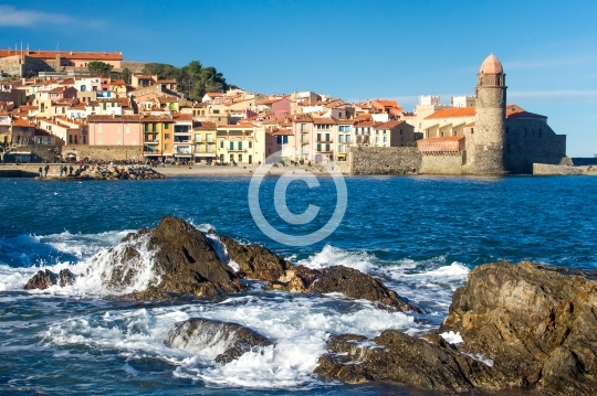 Collioure dans la vague