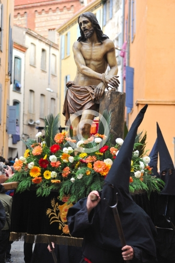Un des misteris à la procession de la Sanch
